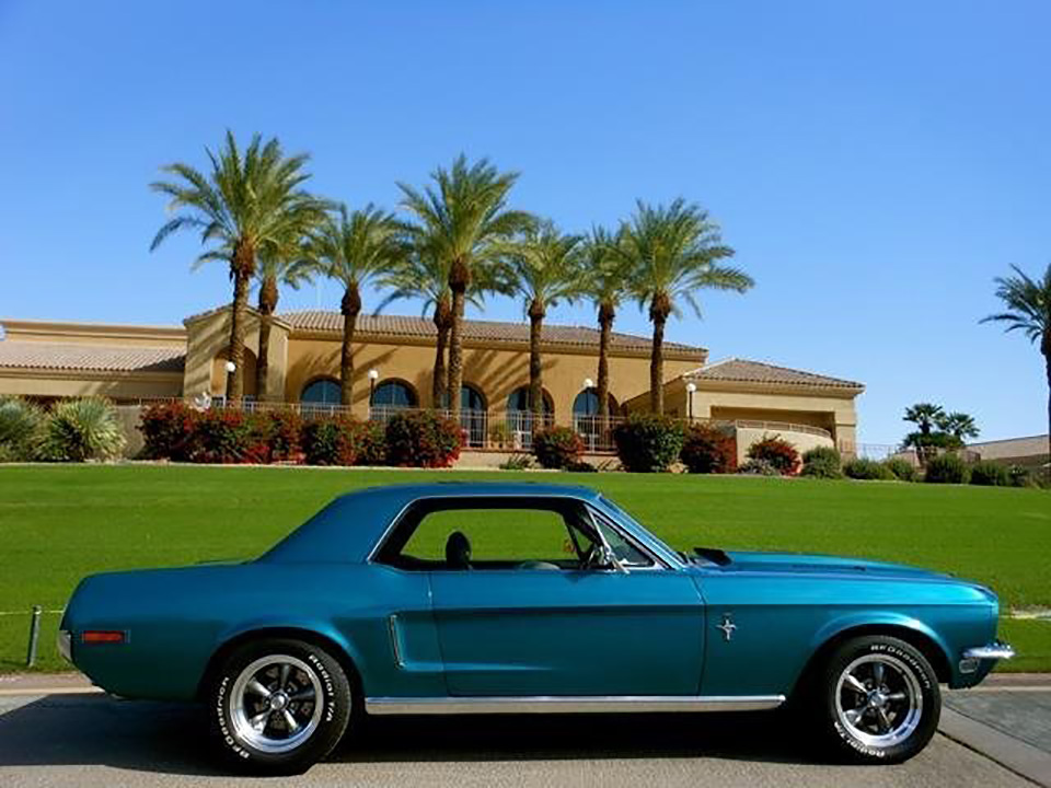 1968 FORD MUSTANG CUSTOM COUPE - Side Profile - 181389
