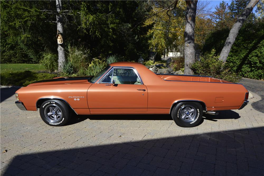 1971 CHEVROLET EL CAMINO SS PICKUP - Side Profile - 181421
