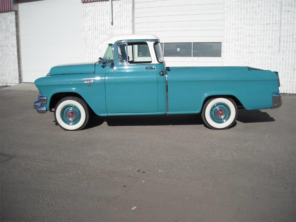1955 GMC CAMEO PICKUP - Side Profile - 181453