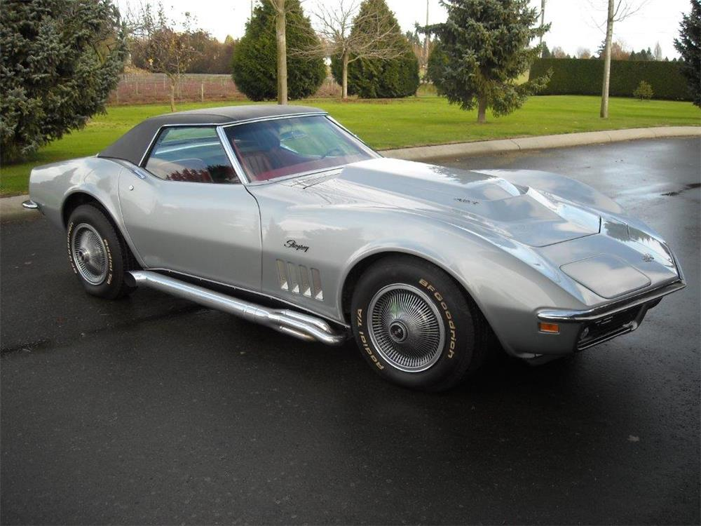 1969 CHEVROLET CORVETTE CONVERTIBLE - Front 3/4 - 181454