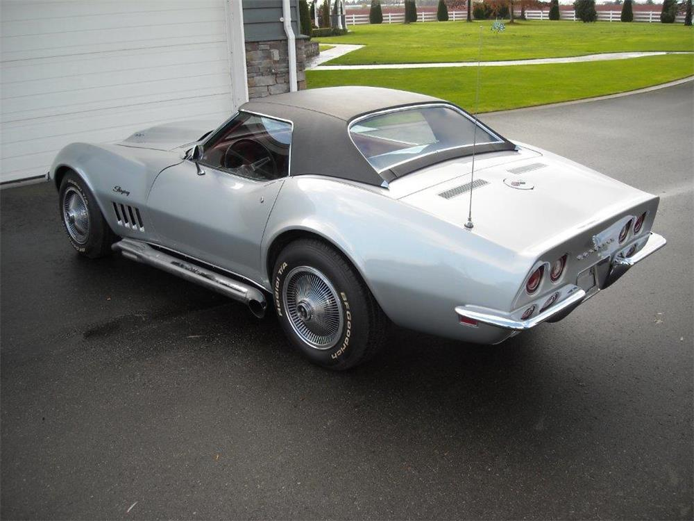 1969 CHEVROLET CORVETTE CONVERTIBLE - Rear 3/4 - 181454