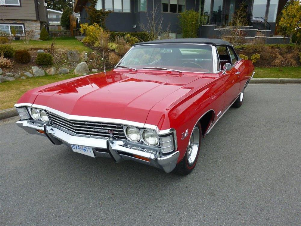 1967 CHEVROLET IMPALA SS 427 CONVERTIBLE - Front 3/4 - 181477