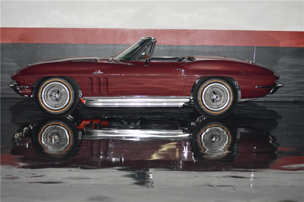 1965 CHEVROLET CORVETTE CONVERTIBLE - Side Profile - 181499