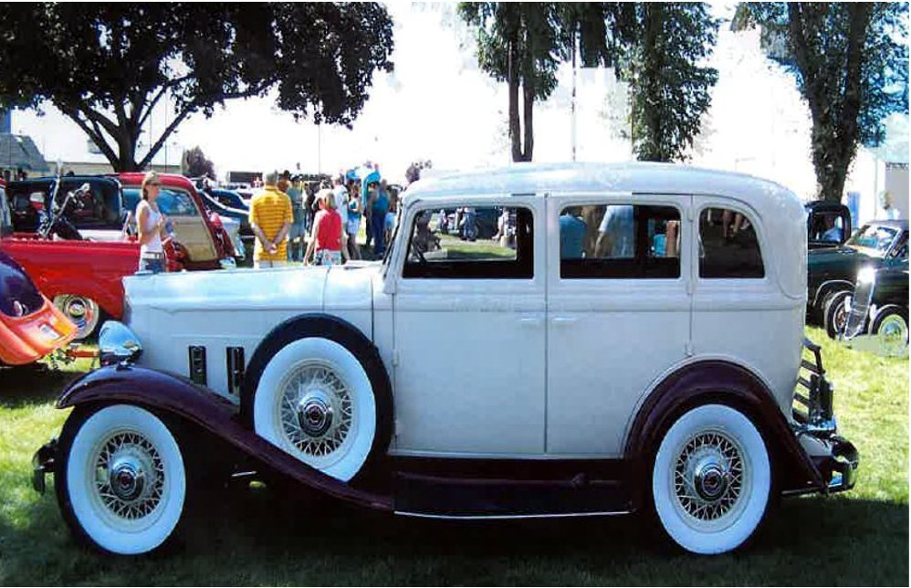 1932 PACKARD CUSTOM 4 DOOR SEDAN - Side Profile - 181521