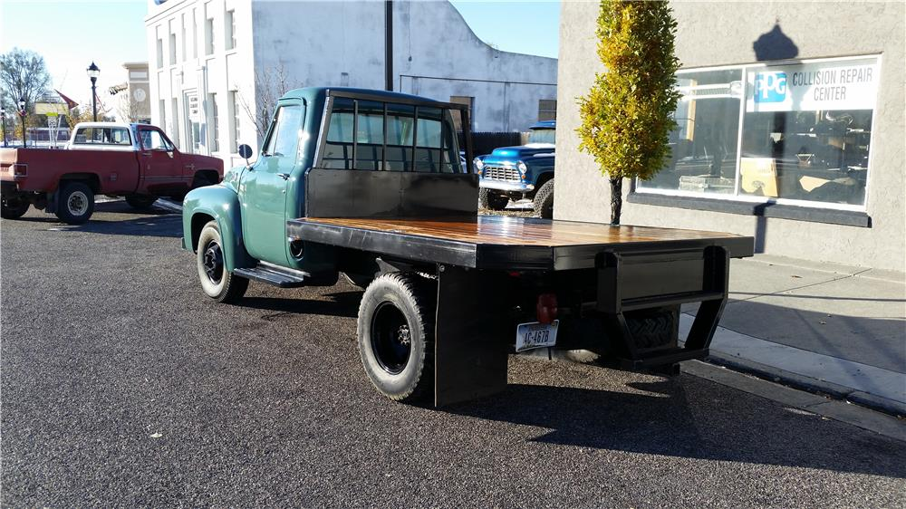 1955 FORD F-350 FLATBED TRUCK - Rear 3/4 - 181541