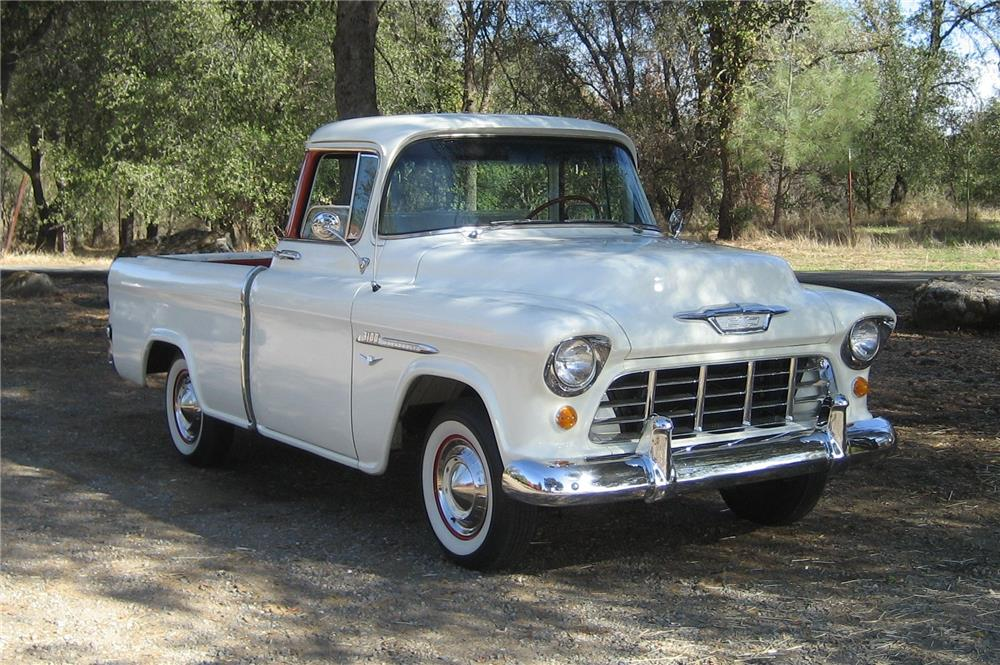 1955 CHEVROLET CAMEO PICKUP - Front 3/4 - 181543