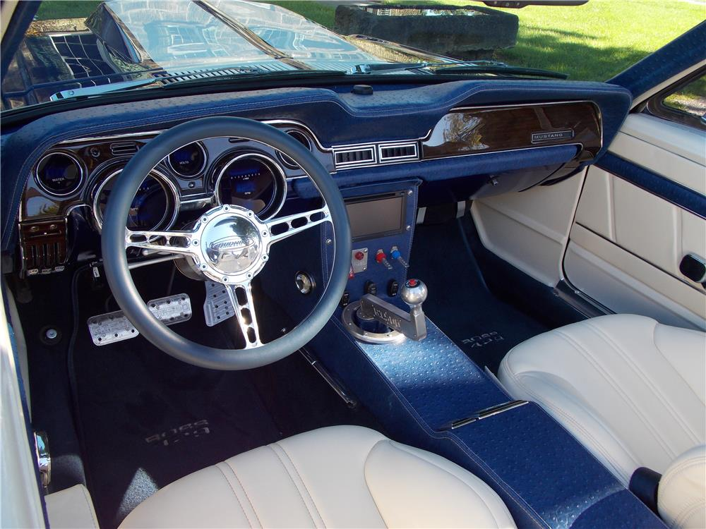 1968 ford mustang custom convertible 181544 - Interior ford mustang ...