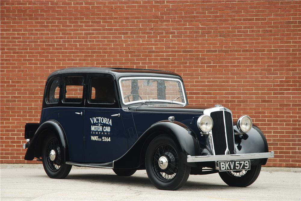 1937 LANCHESTER ELEVEN TAXI CAB - Front 3/4 - 181575