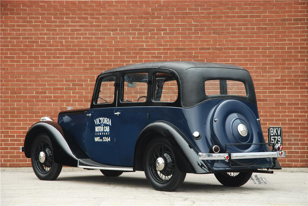 1937 LANCHESTER ELEVEN TAXI CAB - Rear 3/4 - 181575