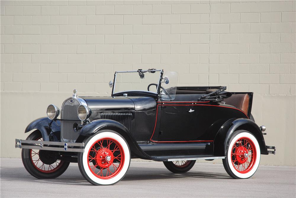 1929 FORD MODEL A ROADSTER - Front 3/4 - 181576