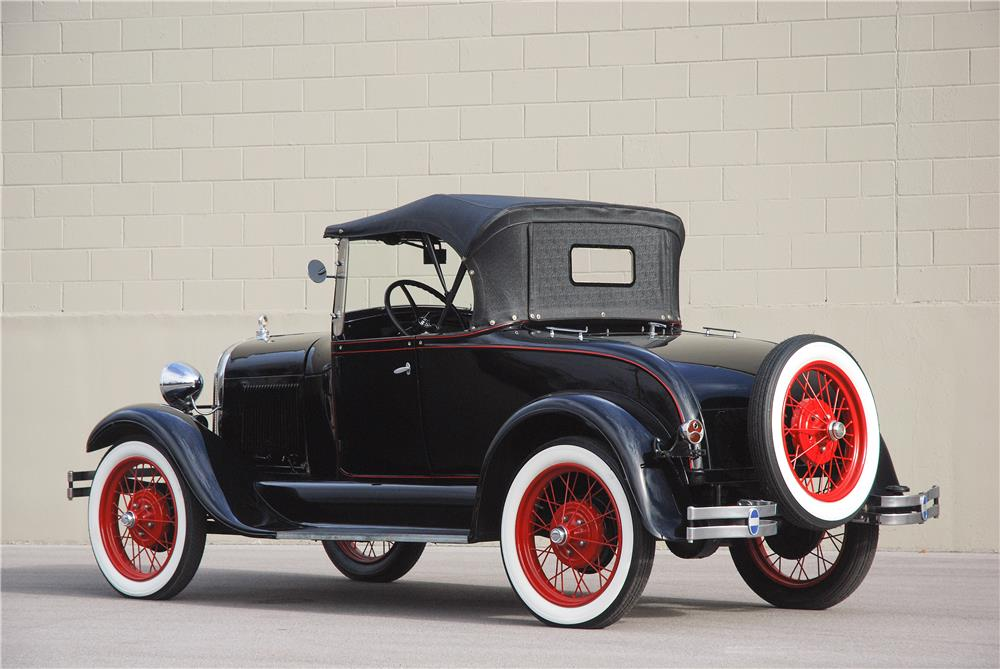 1929 FORD MODEL A ROADSTER - Rear 3/4 - 181576