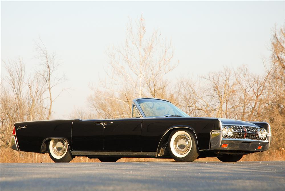 1962 LINCOLN CONTINENTAL 4 DOOR CONVERTIBLE - Side Profile - 181590
