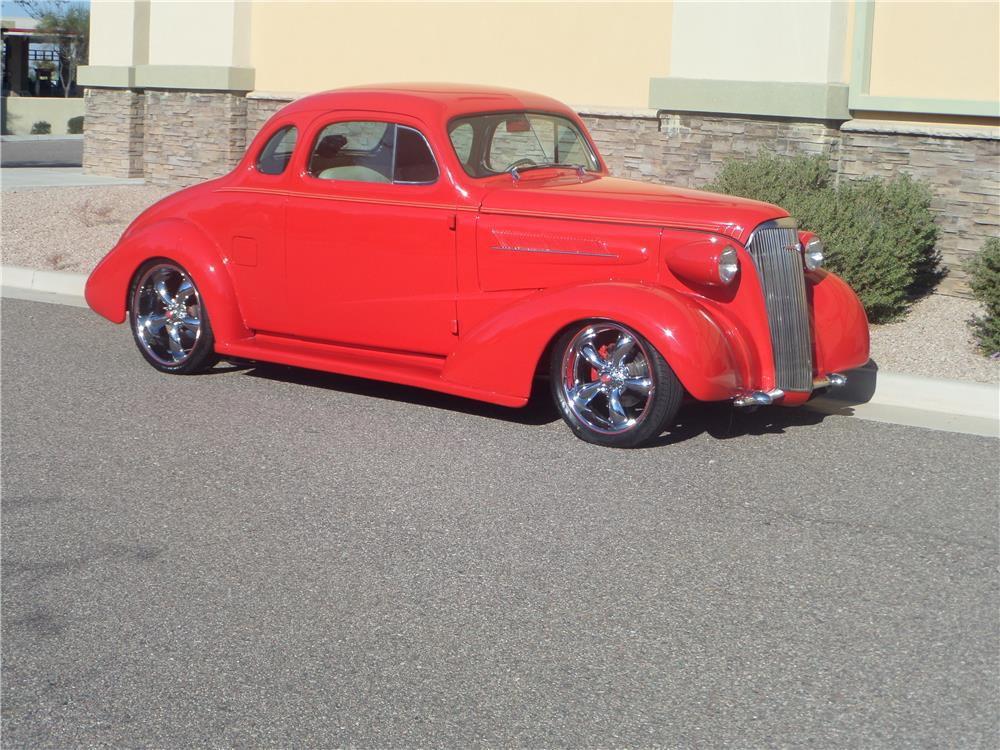 1937 CHEVROLET MASTER CUSTOM 2 DOOR COUPE - Front 3/4 - 181626