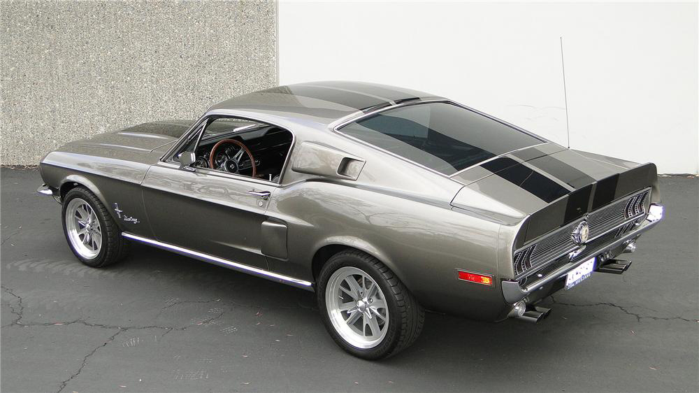 1968 FORD MUSTANG CUSTOM FASTBACK - Rear 3/4 - 181648