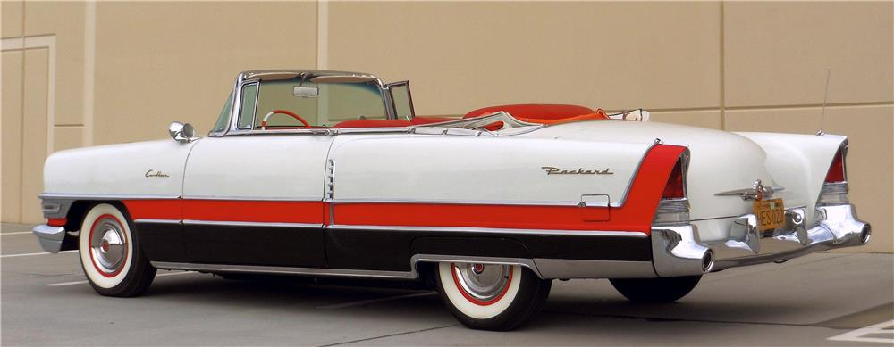1955 PACKARD CARIBBEAN CONVERTIBLE - Rear 3/4 - 181651