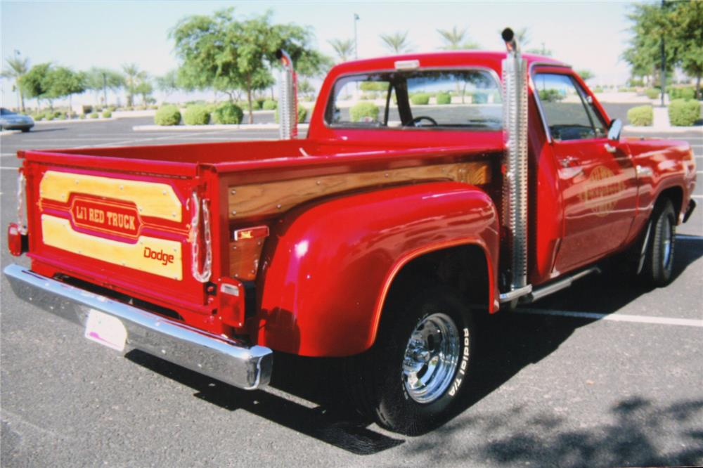 1978 dodge lil red express pickup rear 3 4 181707. Cars Review. Best American Auto & Cars Review
