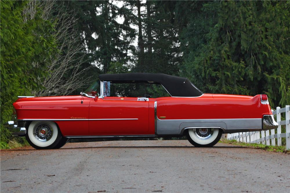 1954 CADILLAC ELDORADO CONVERTIBLE - Side Profile - 181715