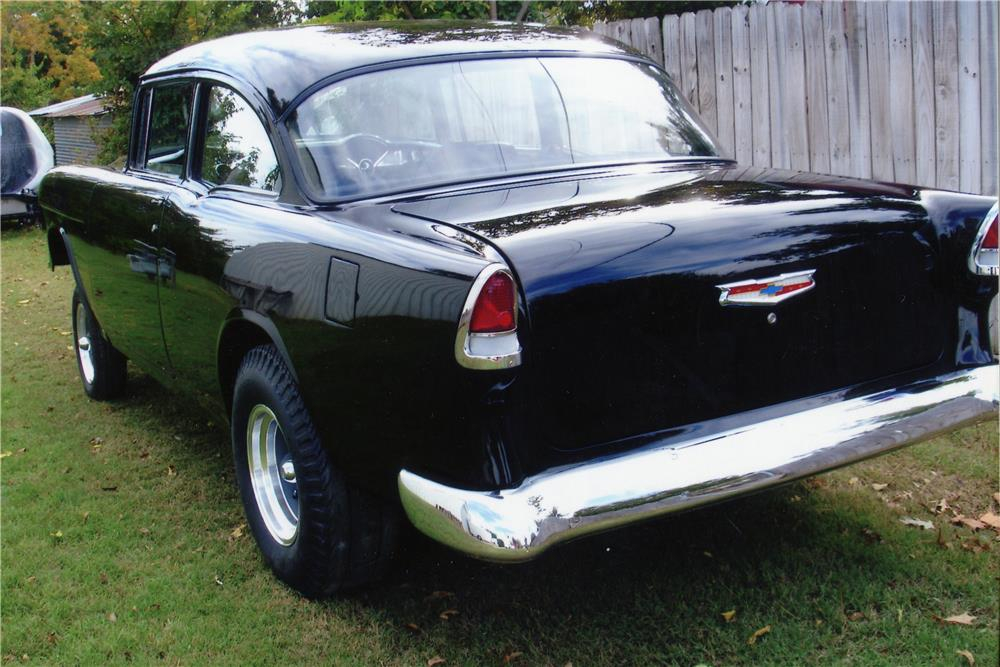 1955 CHEVROLET BEL AIR GASSER CUSTOM - Rear 3/4 - 181721