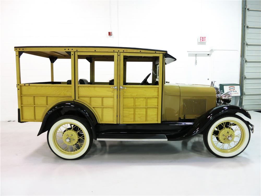 1930 FORD MODEL A WOODIE STATION WAGON - Side Profile - 181736