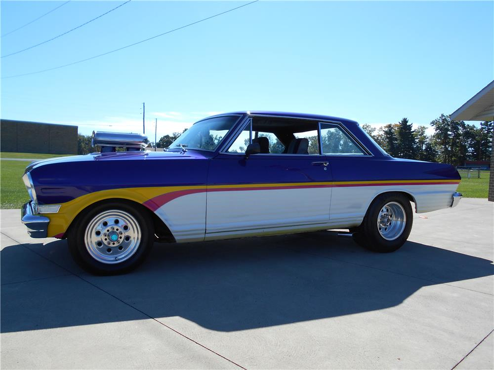 1964 CHEVROLET NOVA CUSTOM - Side Profile - 181741