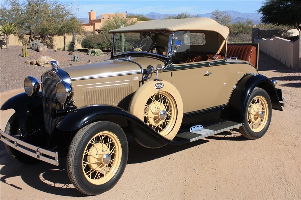 1930 FORD MODEL A ROADSTER - Front 3/4 - 181766