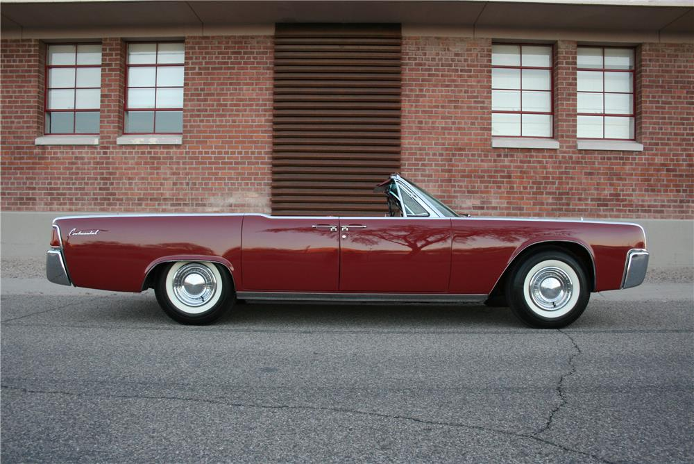 1962 LINCOLN CONTINENTAL 4 DOOR CONVERTIBLE - Side Profile - 181785
