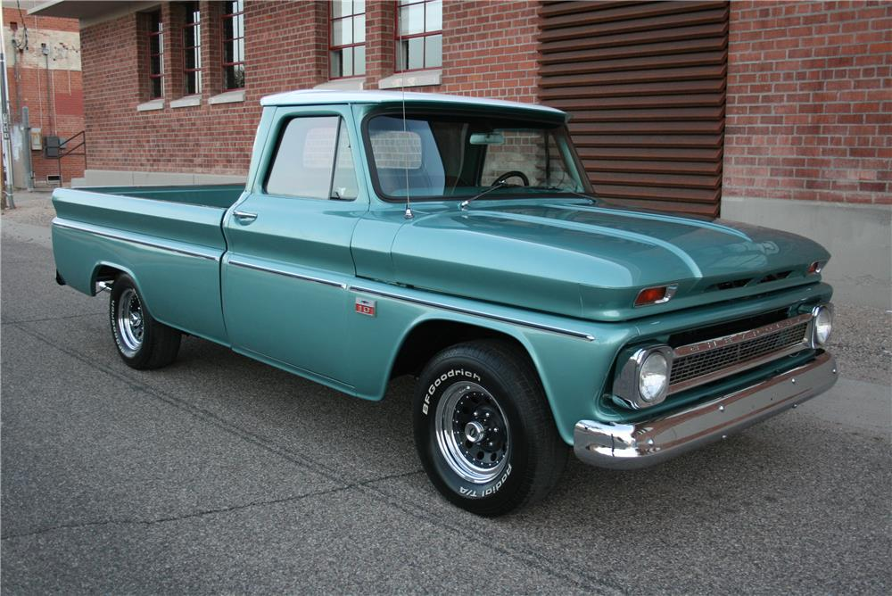 1966 CHEVROLET C-10 PICKUP - Front 3/4 - 181787