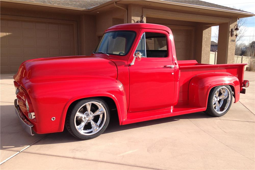 1955 FORD F-100 CUSTOM PICKUP - Front 3/4 - 181803