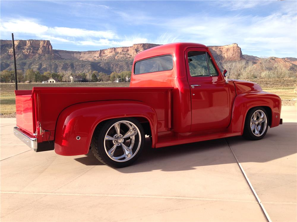 1955 FORD F-100 CUSTOM PICKUP - Rear 3/4 - 181803