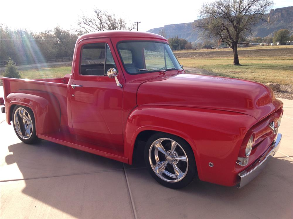 1955 FORD F-100 CUSTOM PICKUP - Side Profile - 181803