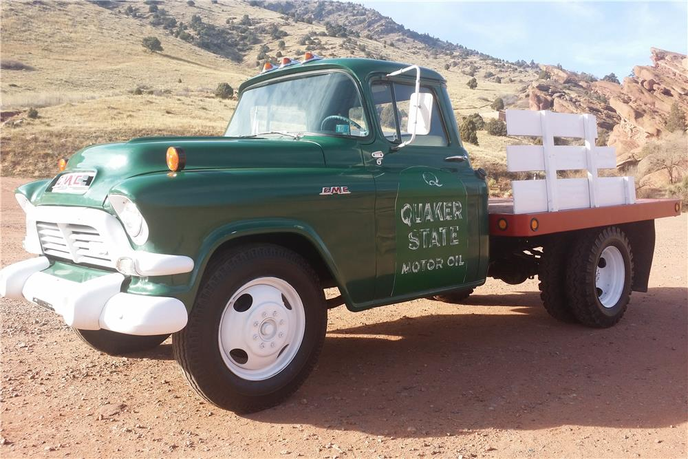 1957 GMC 250 FLATBED PICKUP - Front 3/4 - 181816