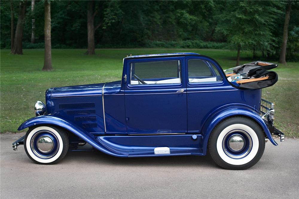 1931 FORD MODEL A 400 CUSTOM CONVERTIBLE SEDAN - Side Profile - 181829
