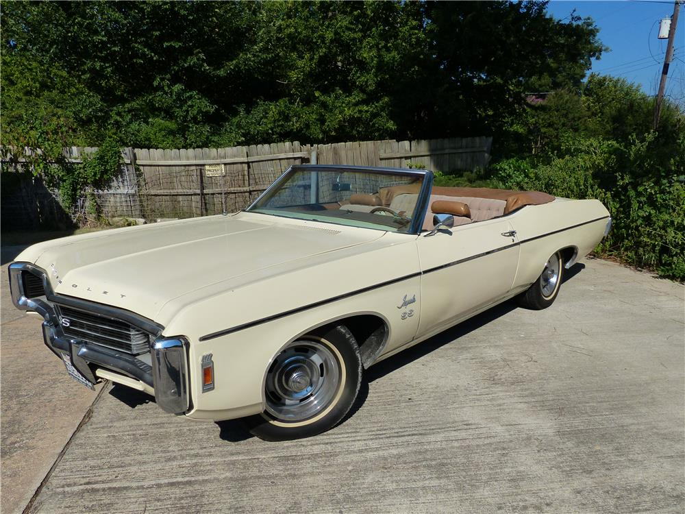 1969 CHEVROLET IMPALA SS 427 CONVERTIBLE - Front 3/4 - 181836