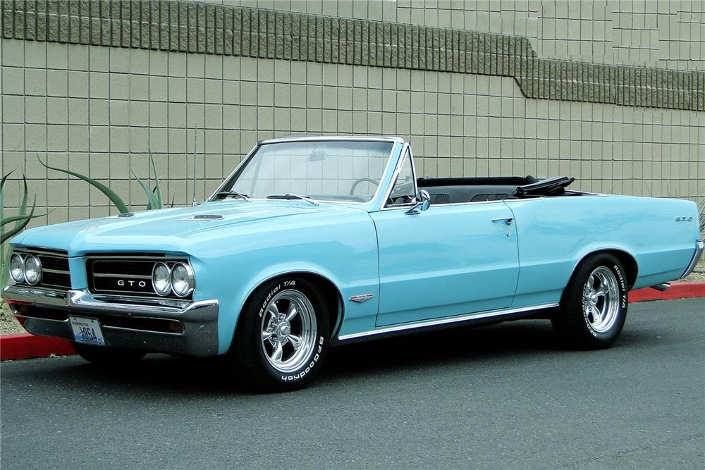 1964 PONTIAC LEMANS CUSTOM CONVERTIBLE - Front 3/4 - 181876