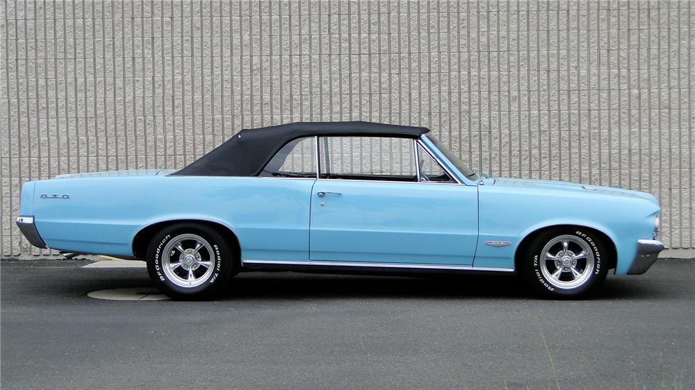 1964 PONTIAC LEMANS CUSTOM CONVERTIBLE - Side Profile - 181876