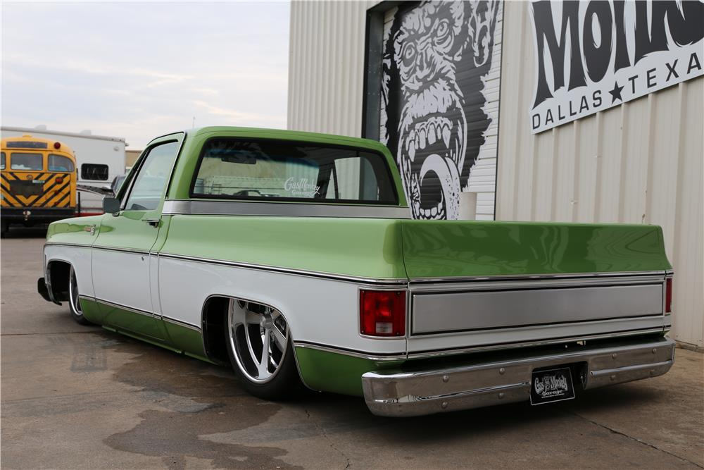 1976 CHEVROLET C-10 CUSTOM PICKUP - Rear 3/4 - 182061