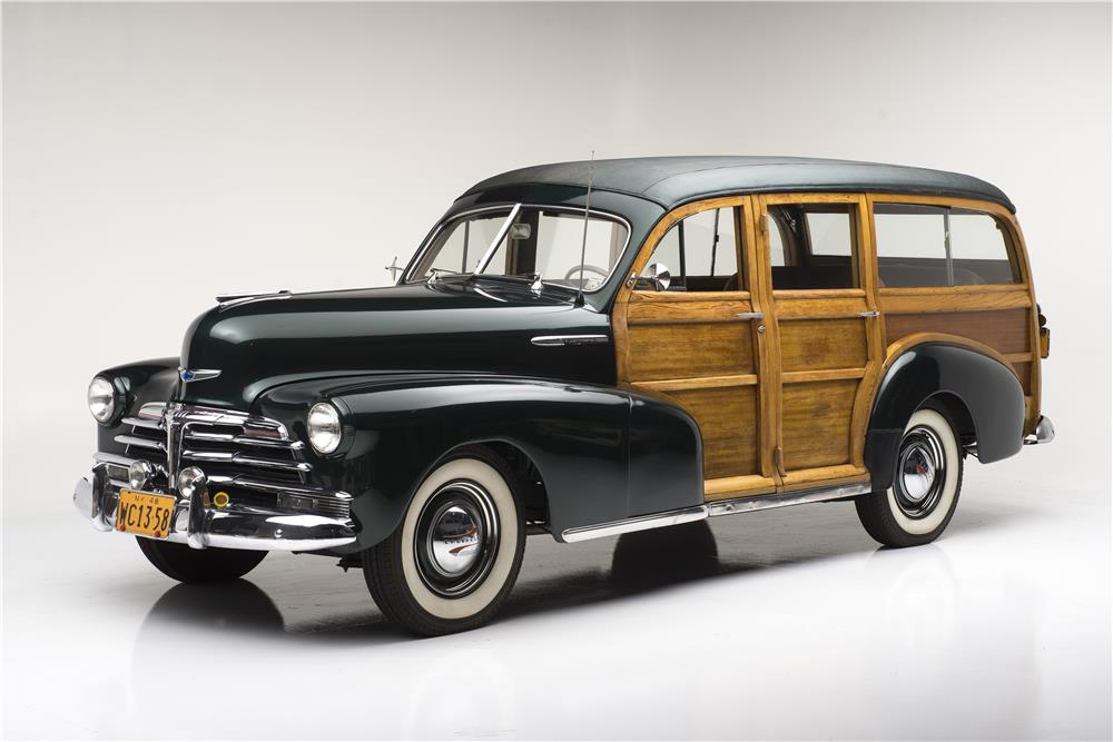 1948 CHEVROLET FLEETMASTER WOODIE WAGON - Front 3/4 - 182093