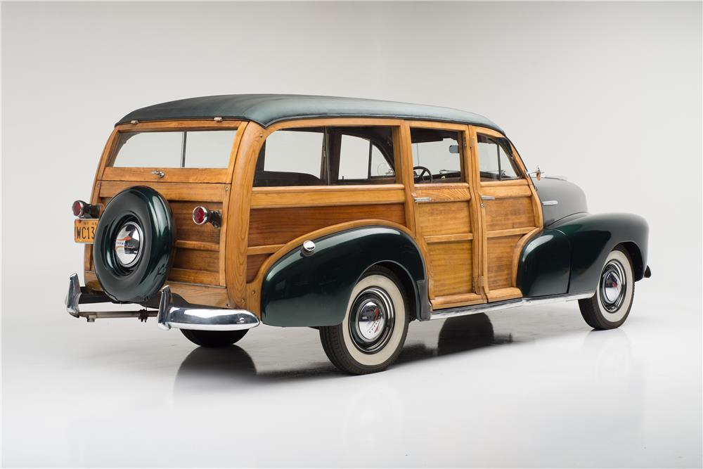 1948 CHEVROLET FLEETMASTER WOODIE WAGON - Rear 3/4 - 182093