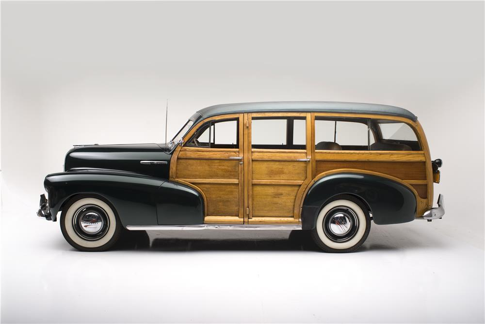 1948 CHEVROLET FLEETMASTER WOODIE WAGON - Side Profile - 182093