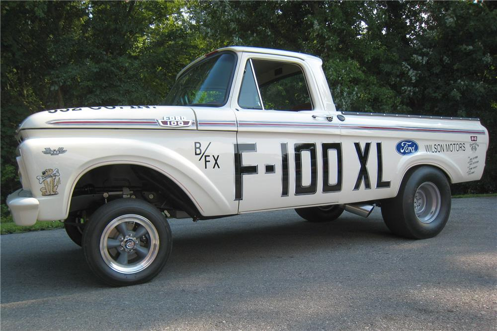 1963 FORD F-100 CUSTOM PICKUP - Front 3/4 - 182122