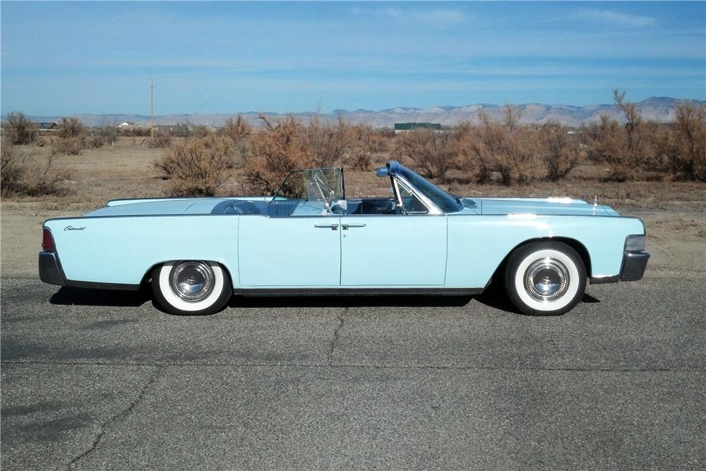 1965 LINCOLN CONTINENTAL 4 DOOR CONVERTIBLE - Side Profile - 182127