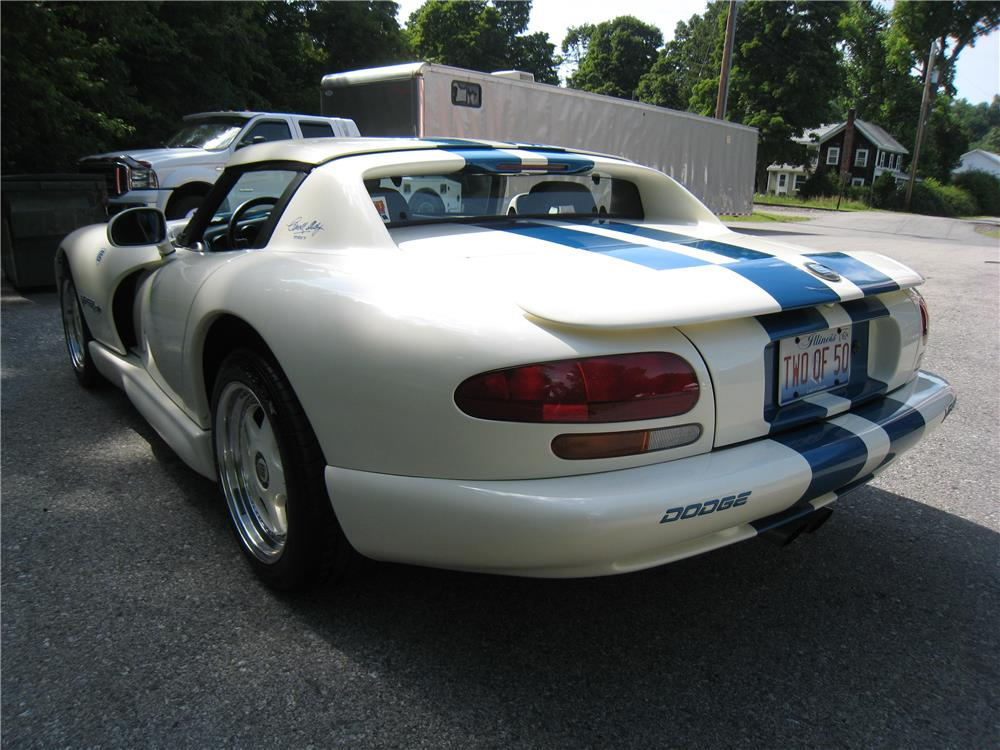 1996 DODGE VIPER RT/10 - Rear 3/4 - 182128