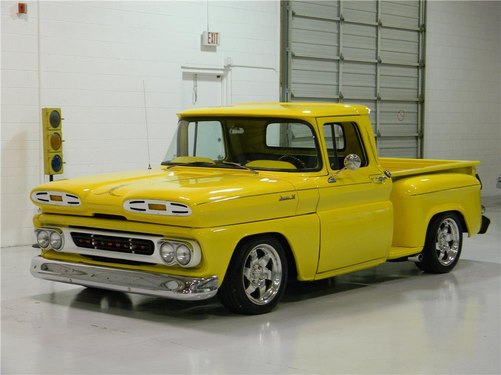 1961 CHEVROLET CUSTOM PICKUP - Front 3/4 - 182139