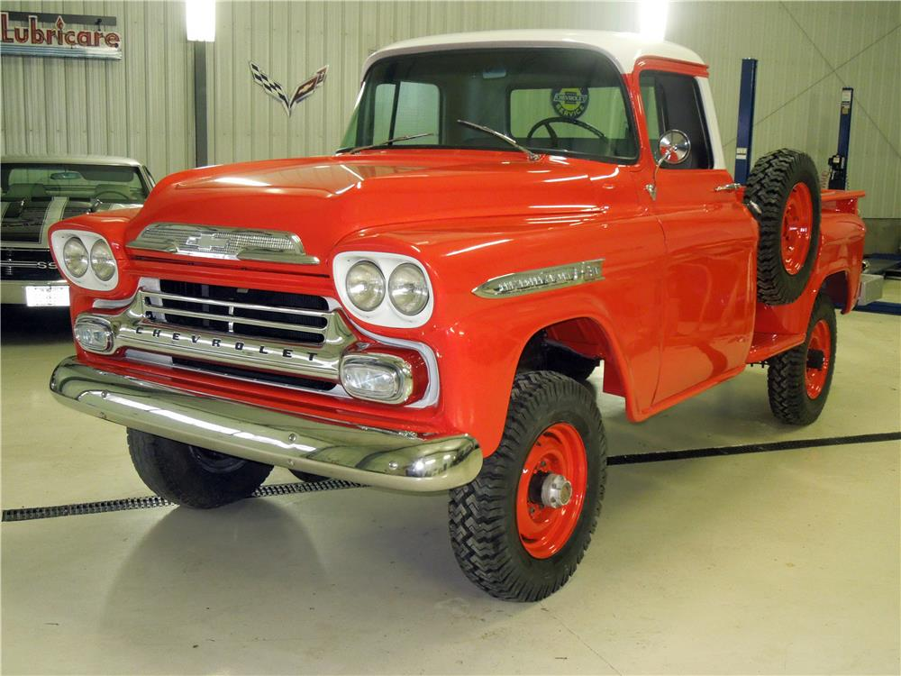 1959 CHEVROLET 3600 PICKUP - Front 3/4 - 182207