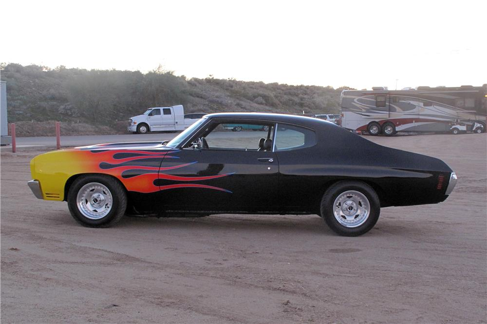 1971 CHEVROLET CHEVELLE CUSTOM - Side Profile - 182276