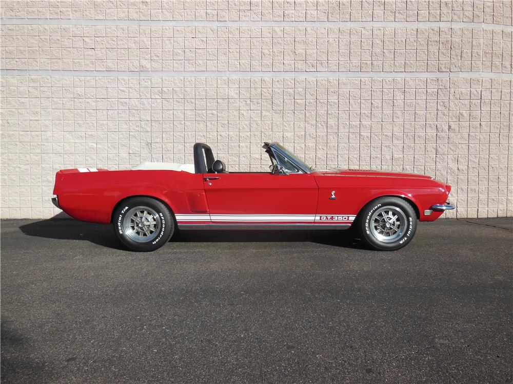 1968 FORD MUSTANG CUSTOM CONVERTIBLE - Side Profile - 182301