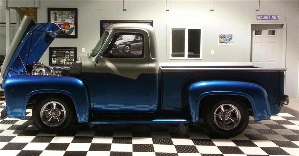 1953 FORD F-100 CUSTOM PICKUP - Side Profile - 182424
