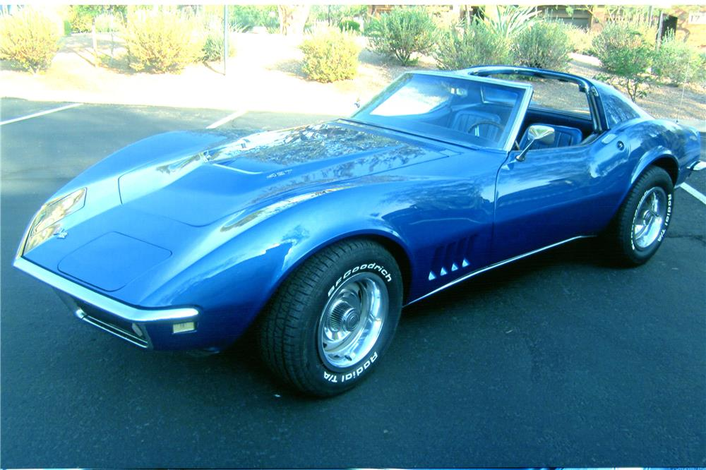 1968 CHEVROLET CORVETTE 2 DOOR COUPE - Side Profile - 182427