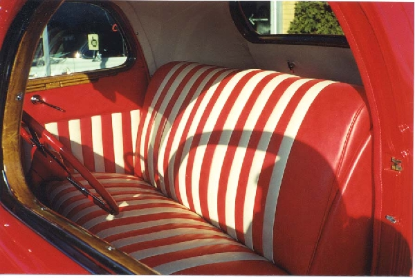 1936 FORD DELUXE 3-WINDOW RUMBLE SEAT - Interior - 18243