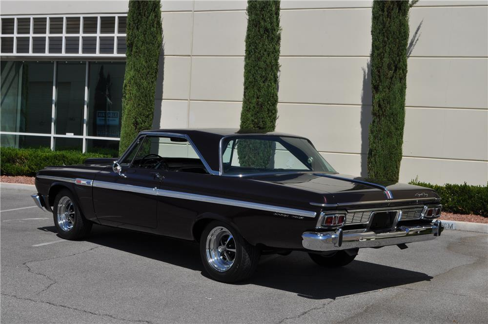 1964 PLYMOUTH SPORT FURY CUSTOM 2 DOOR HARDTOP - Rear 3/4 - 182451